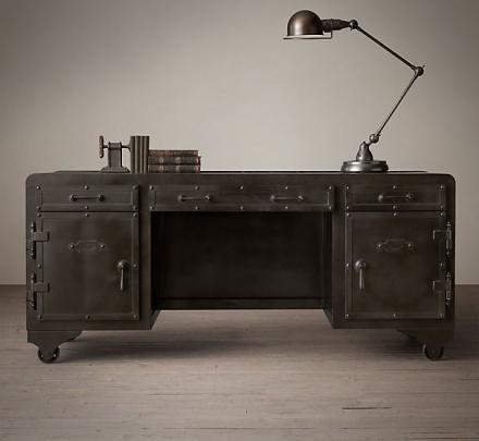Iron Desk Built Like a 20th Century Vault