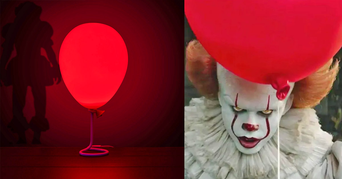 IT Pennywise Clown Red Balloon Lamp