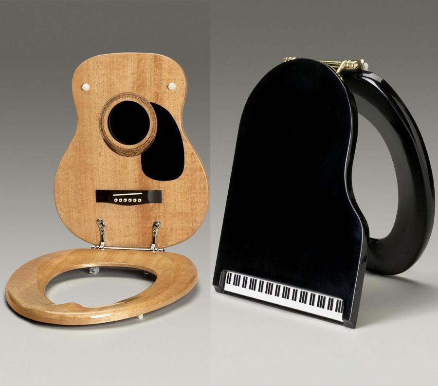Jammin Johns: Guitar and Piano Toilet Seats Enlarge Image