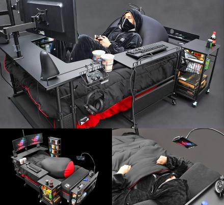 Japan Has Created The Ultimate Gaming Bed, So You Never Have To Rejoin Society Again