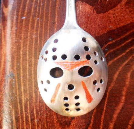 Jason Mask Slotted Spoon