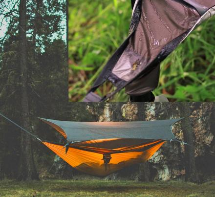 Kammock Glider: Hammock Tent Tarp That Catches Rain