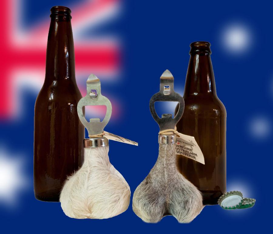 Kangaroo Testicles Bottle Opener