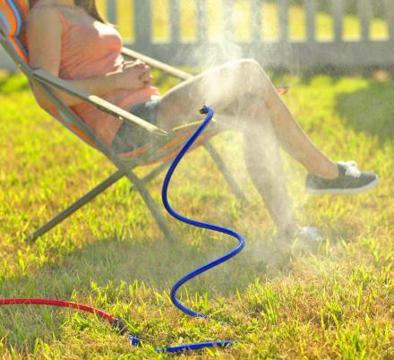 Keep Cool In The Sun With This Flexible Cooling Misting Hose Attachment