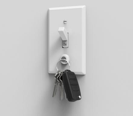 KeyCatch: Magnet That Screws Into Light Switch - Hold Your Keys