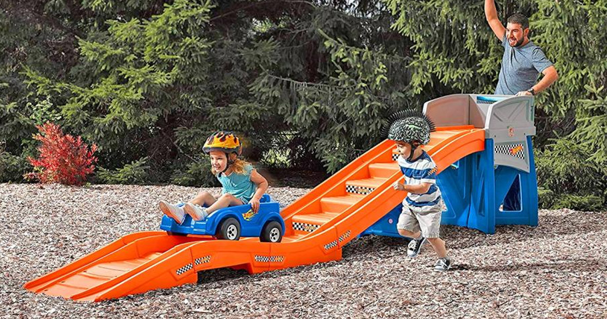 Kids Backyard Roller-Coaster Ride-on Play-set
