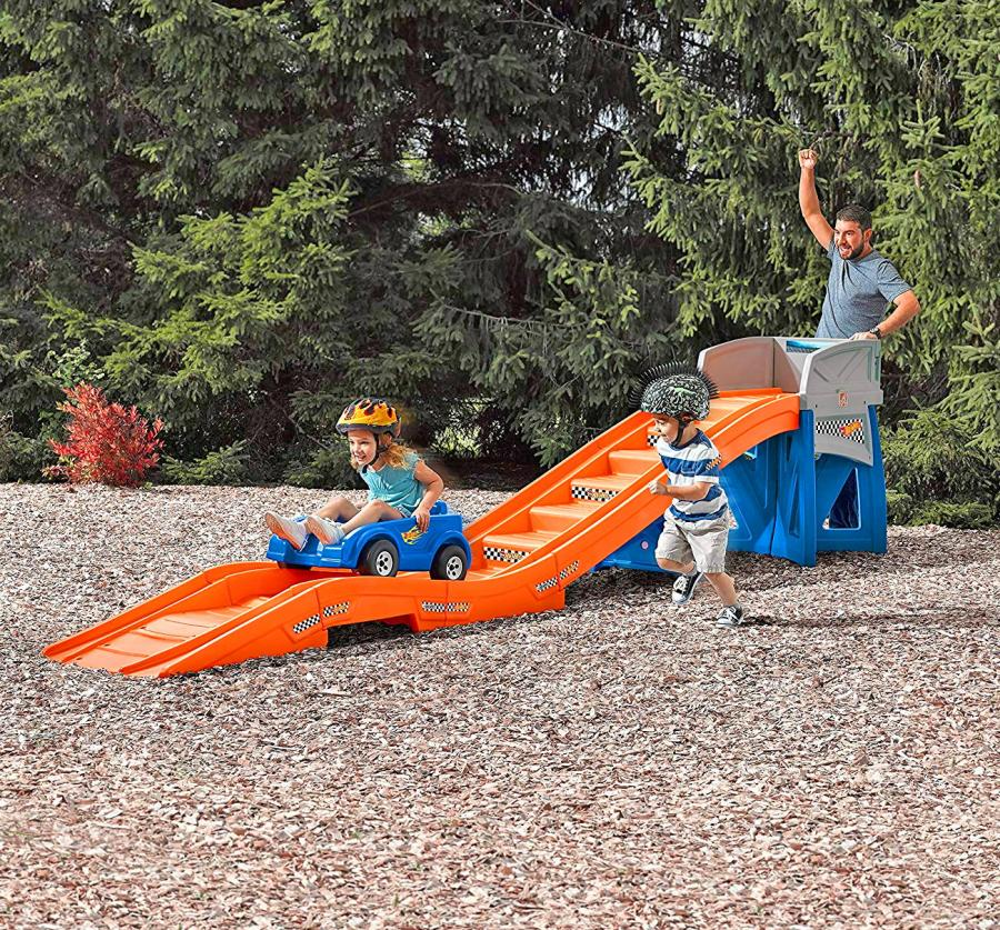 Kids Backyard Roller-Coaster Ride-on Play-set