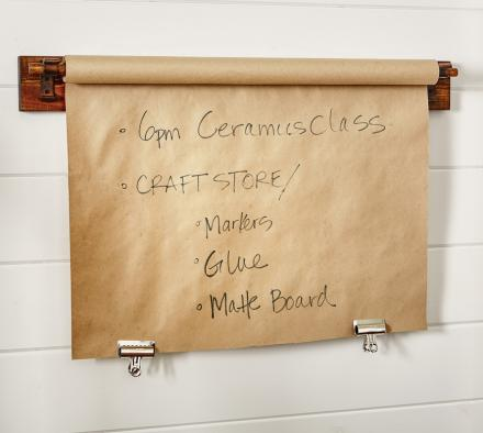 Kitchen Roll Top Butcher Shop Paper Message Board