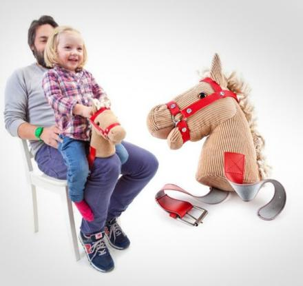 Knee Horsey Is a Horse Head You Strap To Your Leg
