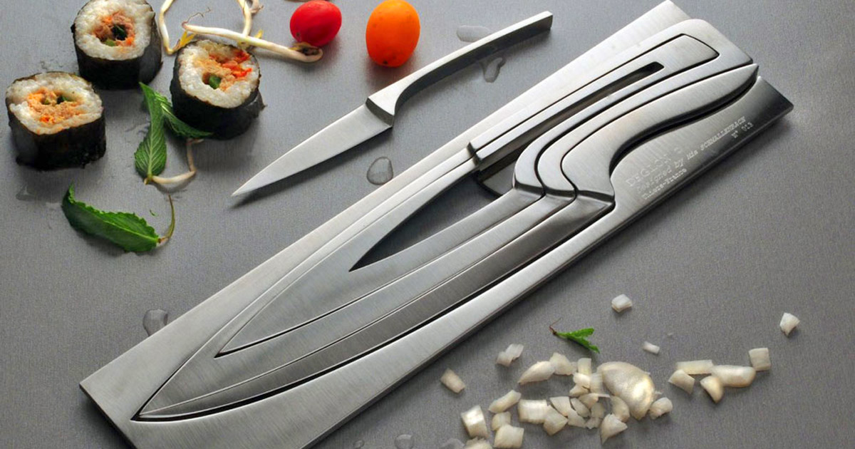 Knife Within A Knife - Stainless Steel Nesting Cooking Knife Set
