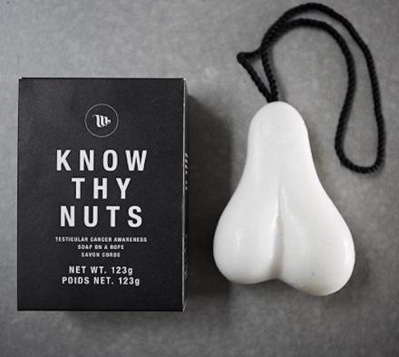 Know Thy Nuts: A Scrotum Shaped Bar of Soap On a Rope
