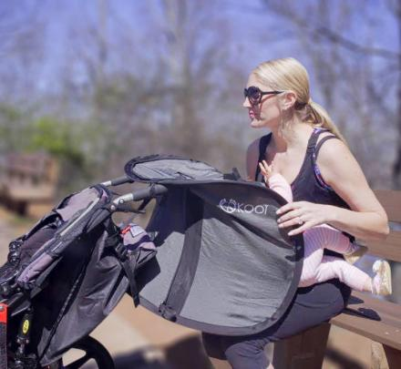 KOOÏ Cover: A Breastfeeding Cover That Attaches To Stroller