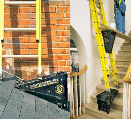 Ladder Leveler Lets You Use Ladder On Stairs and Uneven Surfaces