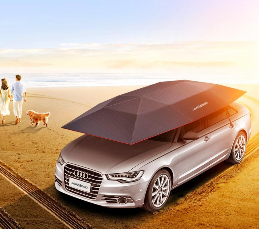 Lanmodo Automatic Car Umbrella Protects Against Sun