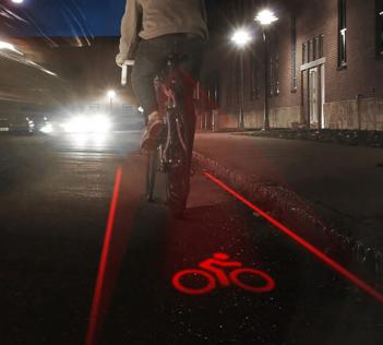 Laser Bike Lane Creates Your Own Bicycle Lane While Your Ride