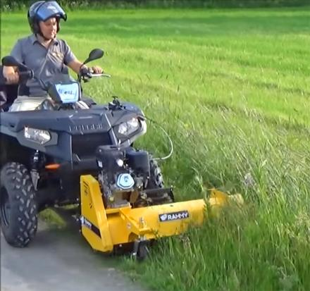 Rammy Lawn Mower ATV Attachment