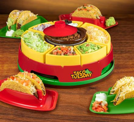 This Lazy Susan Taco Bar Might Be The Cutest Idea For Taco Tuesday
