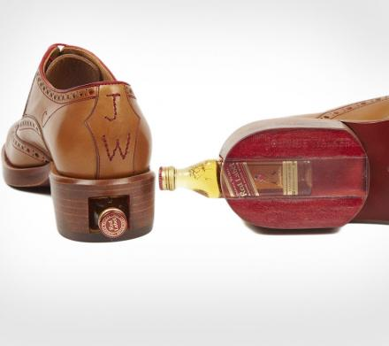 Leather Shoes With Concealed Booze Stash In The Heel