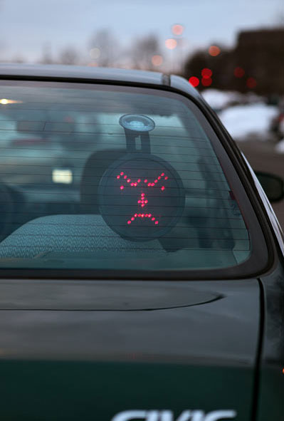Middle Finger LED Car Display