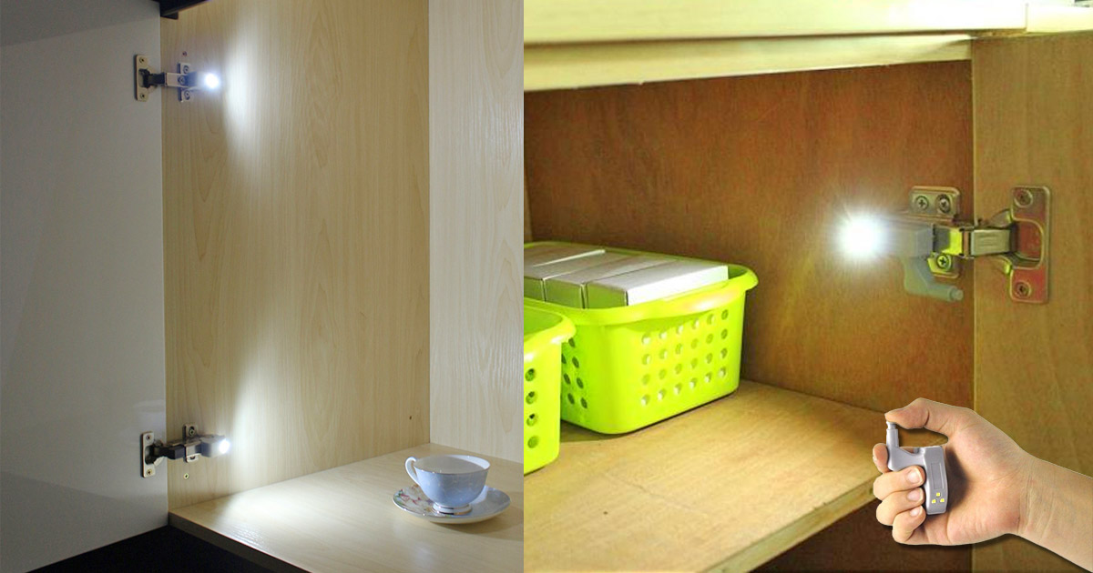 LED Soft Close Cabinet Hinge Lights Turn On When Door Is Opened