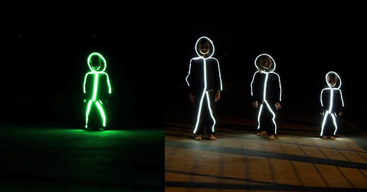 LED Stick Figure Halloween Costumes