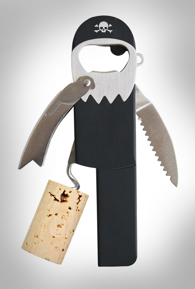 Legless Pirate Corkscrew Bottle Opener