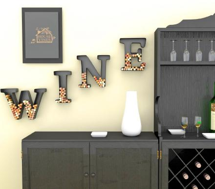 Letter Shaped Wine Cork Holders