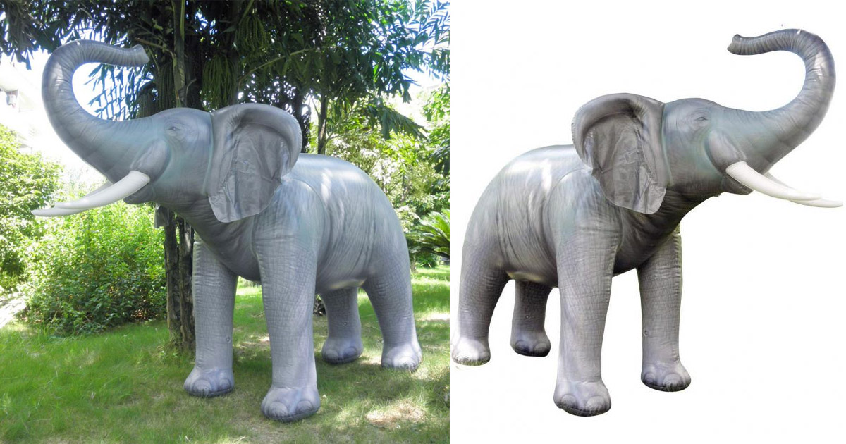 Life-Size Inflatable Elephant Toy