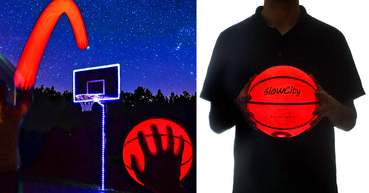 There Are Now Light-Up Basketballs That Exist For Playing At Night