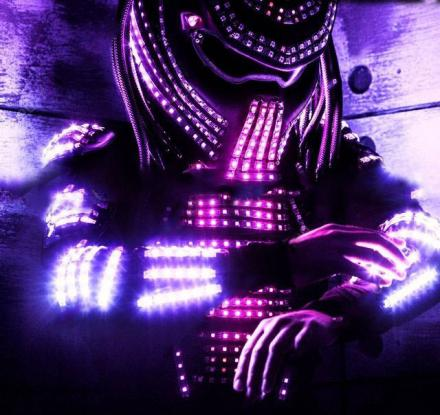 Light-Up LED Predator Costume - Controllable Via Wi-Fi