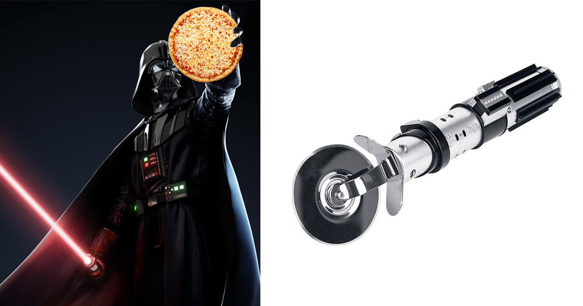 Every Star Wars Geek Requires This Lightsaber Pizza Cutter That Has Lights and Sound Effects
