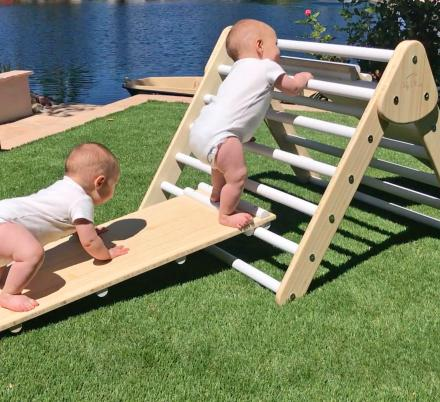 Little Climber: Climbing Play Set Helps Babies Learn To Climb