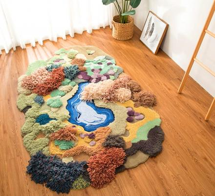 These Super Cute 'Little Forest' 3D Rugs Are The Ultimate Playroom Rug