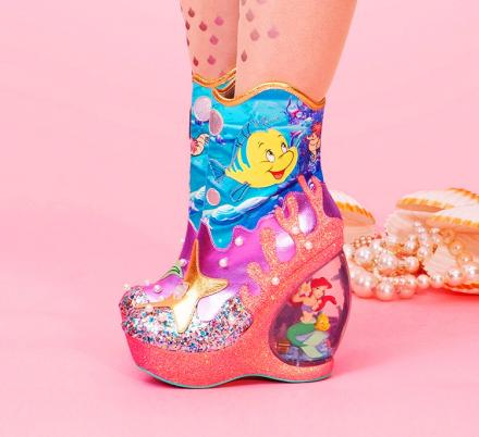 You Can Now Get Little Mermaid Boots With Snow Globe Heels Featuring Ariel and Ursula Figurines Inside