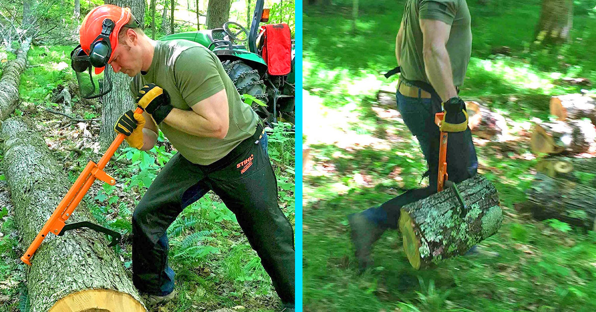 The LogOX Is a 3-in-1 Back-Saving Forestry Multi-tool For Turning and Hauling Large Trees and Logs