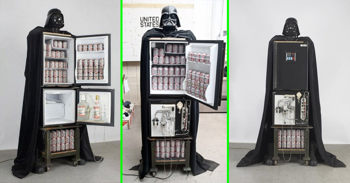 Luke I Am Your Refrigerator - A Darth Vader Fridge and Vodka Fountain