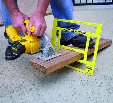 Lumber Lok: Mini Sawhorse Elevates Wood Off Ground For Easy Cutting