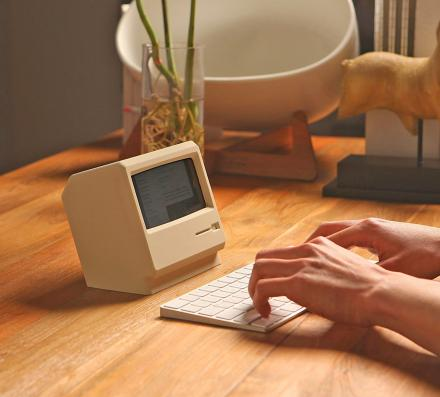 M4 Phone Stand Turns Your iPhone Into a Retro Apple Computer