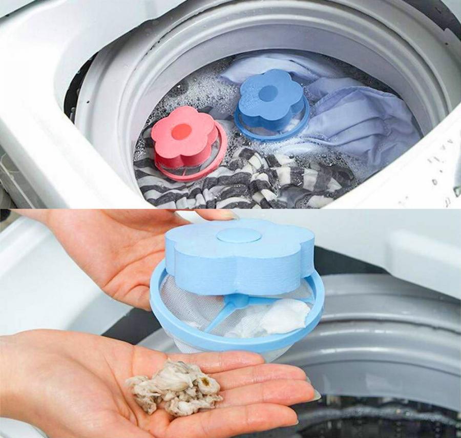Magic Pet Hair Catching Washing Machine Flower 6 Pack