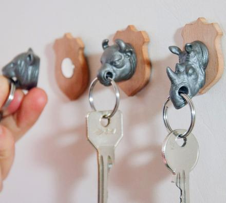 Magnetic Animal Head Key Holder