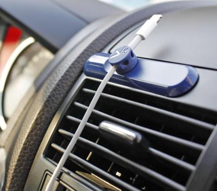 Magnetic Cord Holder For Your Car Keeps Your Cable Ready For Charging Your Devices