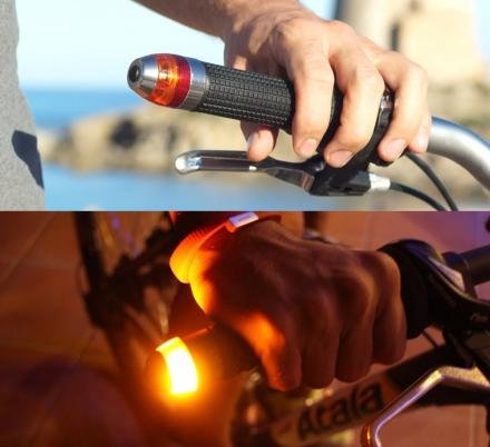 Magnetic Snap Handlebar Lights Gives Your Bicycle Safety and Turn Lights