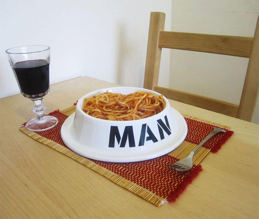 Man Bowl The Human Dog Bowl
