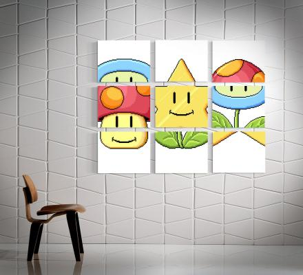 Mario Match Game Wall Art