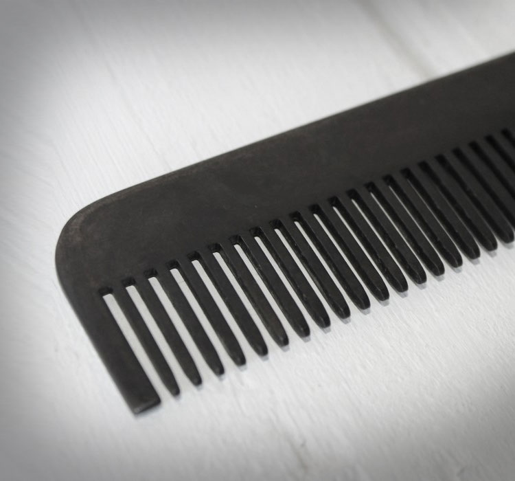 Matte Black Steel Comb