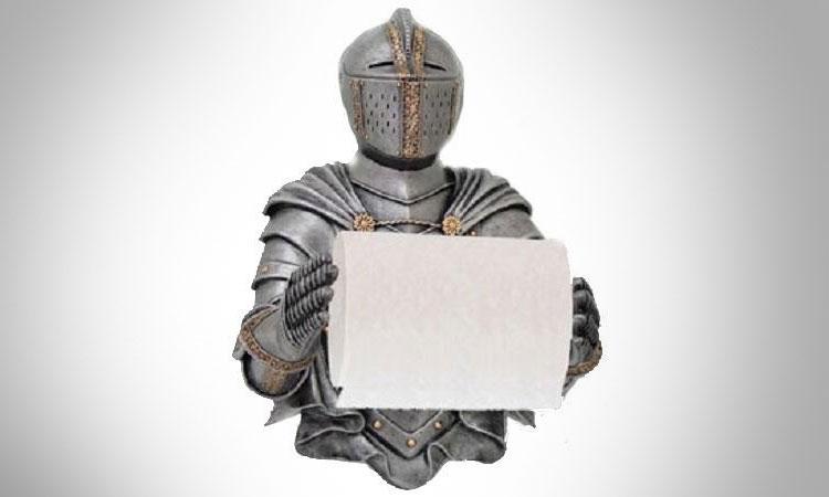 Toilet Paper Holder : Medieval knight toilet paper holder