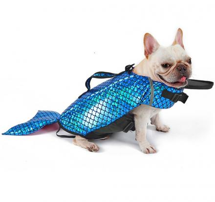 Mermaid Dog Life Jacket Turns Your Dog Into a Majestic Mermaid