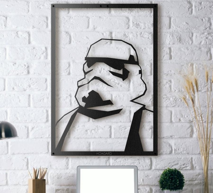 Metal Framed Stormtrooper Silhouette Poster Wall Art