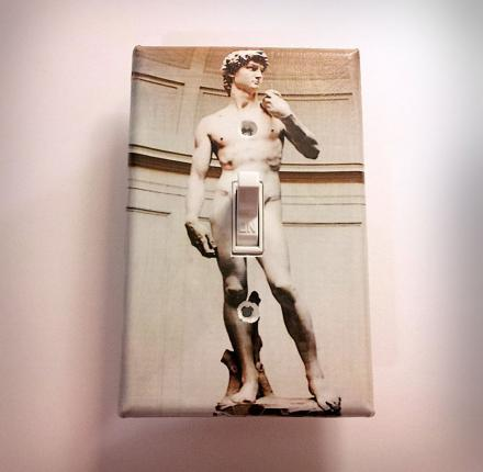 Michelangelo's David Dirty Light Switch Plate