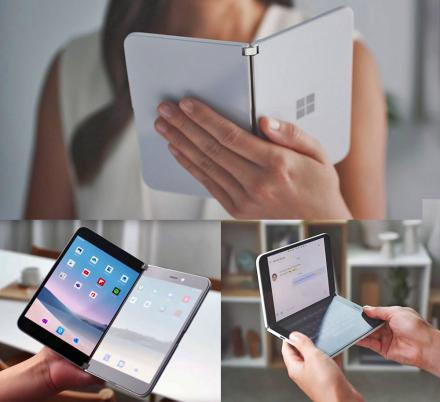 Microsoft Surface Duo Folding Smart Phone Can Be Turned Into a Mini Laptop